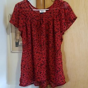 Red Cheetah Print Shirt